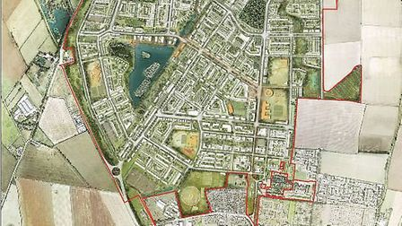 A six-week public consultation on plans for 6,500 homes and facilities at a proposed new town north