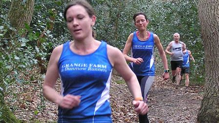 Kerry Harrington closely followed by Jo Bisset-Smith