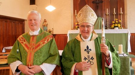 Induction of Fr Michael Vulliamy, with Bishop Alan, at St Jude's Whittlesey and also at Sacred Hear