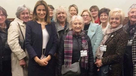Members of the Stetchworth Women's Institute joined MP Lucy Frazer during a visit to Westminster. PH