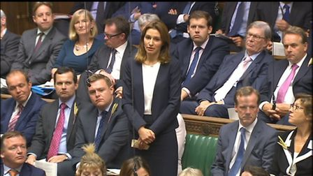 MP for SE Cambridgeshire, Lucy Frazer, at Home Office Questions on Monday March 6.