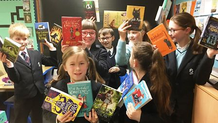 Teachers and staff at King's Ely celebrate World Book Day with week-long Reading Festival, author vi