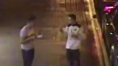 Police would like to talk to two men after a taxi driver was allegedly robbed in Beck Row PHOTO Suff
