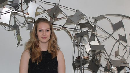 Art and design students at King's Ely are showcasing their work to the public this month. Their work