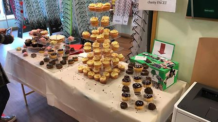 Students from FACET and Specsavers staff in March put on a VIP themed cake sale for charity last mon