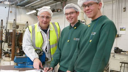 Andrew Gedge, head of faculty for sport, public and caring services, visited Crown Packaging Manufac
