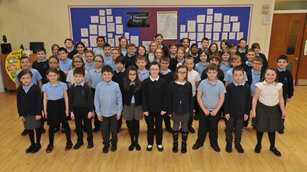 Year 5 children from Cavalry Primary School in March took part in Sing for your School, a Cambridges