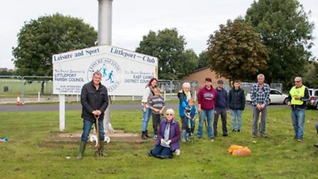 The Rotary Club of Littleport planted 50,000 crocus bulbs in Littleport and Little Downham last week