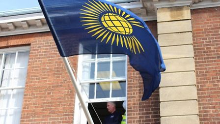 Commonwealth Day flag ceremony at Fenland District Council in March PHOTO: FDC