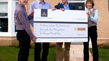 James Hopkins presented £10,000 worth of donations to the three winning charities of the Hopkins Hom