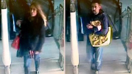 Do you recognise these people? Police want to speak to them in connection with theft of £230 of alco