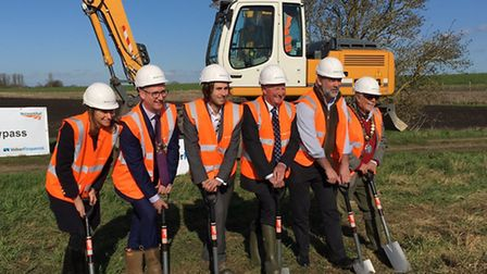 Work on the Ely Southern Bypass has finally begun, and MPs and councillors marked the occasion by ho