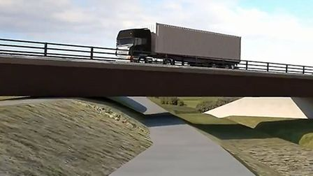 An artist's impression of the Ely Southern Bypass, which is being built in an attempt to reduce traf