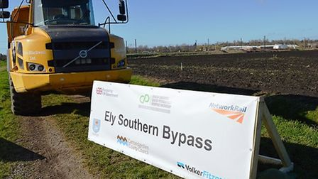 Work on the bypass is expected to be complete in Spring 2018. PHOTO: Mark Miller