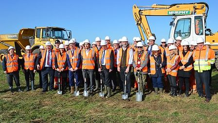 Councillors, MPs and representatives from VolkerFitzpatrick and Network Rail were on hand to mark th