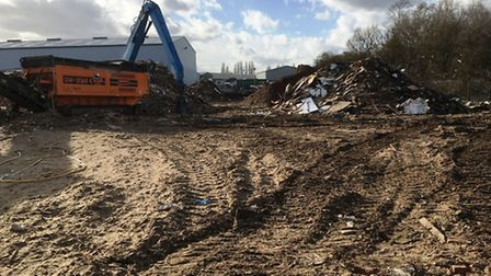 Anglian Resources Ltd claim they have been treated unfairly by authorities. The site is kept damp to