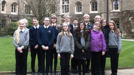 Thirteen students from Ely College attended the award ceremony for the new Bridge Book Award at Pete