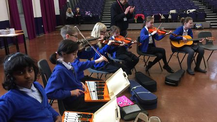 The pupils have also been learning about the influence music has on other cultures. PHOTO: Market Pl