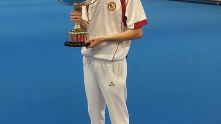 City of Ely Bowls Club's Ed Elmore, who was crowned British Isles Under 25s Singles champion last we