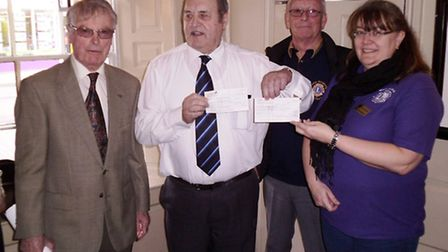 The March Rotary Club has donated £600 to Positive People Care March. PHOTO: Robert Freeman