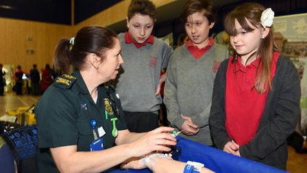 Neale Wade careers convention. Pupils from Burrowmoor Primary in March PHOTO: Ian Carter