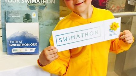 Six-year-old King's Ely Acremont pupil Lynden Long is to take on this year's 2.5km Marie Curie Swima