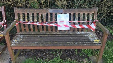 Abbi Flick was given one month to restore her family memorial bench by Soham Town Council. PHOTO: Ab