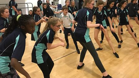 Kings Ely Junior pupils rehearsing ahead of their performances of family-favourite musical Cats.