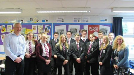 A team of Year 9 reporters at Cromwell Community College were visited by a regional BBC journalist o