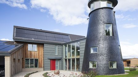 A ruined 19th century windmill in Little Downham has been given a smart eco-makeover with the help o