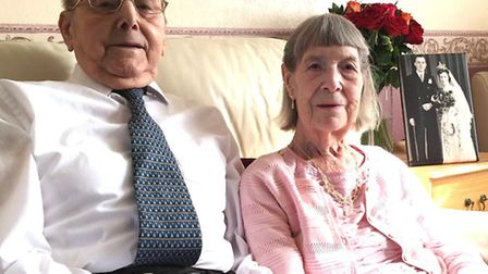 Jack and Joyce Watson are to celebrate their 70th wedding anniversary on March 14. Next to them is a