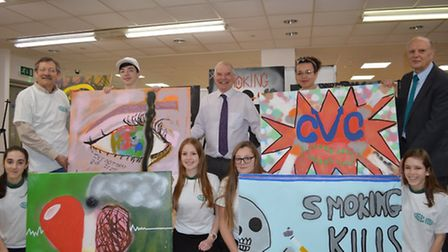 Students show they are proud to be smoke free with graffiti exhibition. Featured in the image: Kick