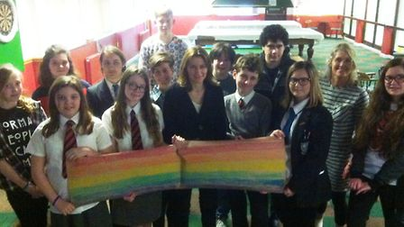 The Soham Friends Project with MP Lucy Frazer at their second LGBT workshop on Friday.