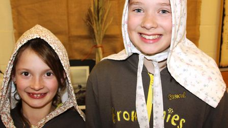 Witchford brownies visit Ely Museum to learn about Fen culture. PHOTO: Mike Rouse.