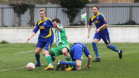 Mulready scored twice within one second-half minute to give Robbie Mason his first win as Soham boss