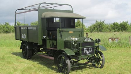 The 1916 WD Albion A10 Troop Carrier is the only model in the UK in war department colours and it ha