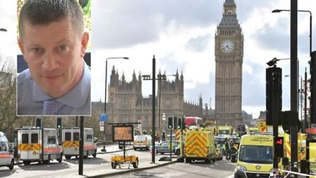 Pc Keith Palmer was killed in Westminster yesterday. Picture: Dominic Lipinski/PA Wire