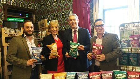 Corkers crisps manufacturers are invited to the Houses of Parliament. NE Cambs MP Steve Barclay with