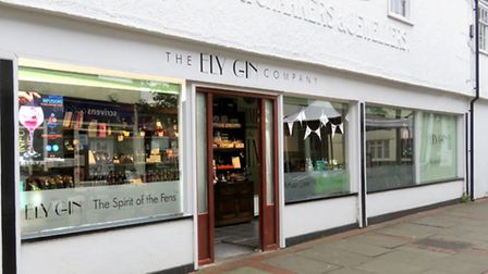 The Ely Gin Company's shop at the Buttermarket, Ely. PHOTO: Ely Gin Company