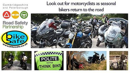 Cambridgeshire and Peterborough Road Safety Group launch a safe motorbiking campaign PHOTO: Cambridg