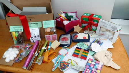One of the Rainbow Boxes from Fenland Reusful for families with children with long term illness PHOT