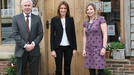 Lucy Frazer (centre) visited Red2Green's head office and met chief executive officer Nigel Fenner an