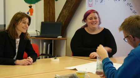 MP Lucy Frazer visited Swaffham Bulbeck charity Red2Green on Friday to find out more about their wor