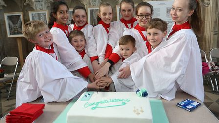 Ely Cathedral has 10 new choristers, all from King's Ely. PHOTO: Richard Patterson