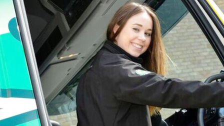 Assistant manager Gemma Manchett from Manchetts Rescue and Recovery is pulling on her trainers to ru