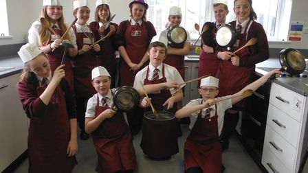 Students' wear a hat day at Cromwell Community College in Chatteris raises hundreds for The Brain Tu