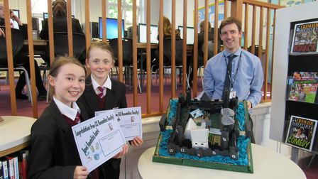 Year 7 Castle Competition. Joint second place: Ruby and Leoni.