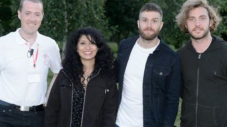 Shappi Khorsandi, Joel Dommett and Seann Walsh at last year's Roaring With Laughter event, one of te