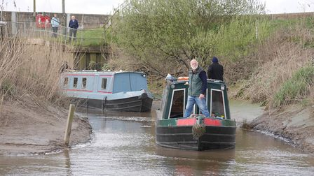 The boats emerge from their trip down the Old Bedford River. PHOTO: Chris Howes