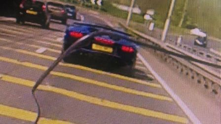Police pulled over this supercar whose driver didn't realise officers were watching. Picture: Norfol